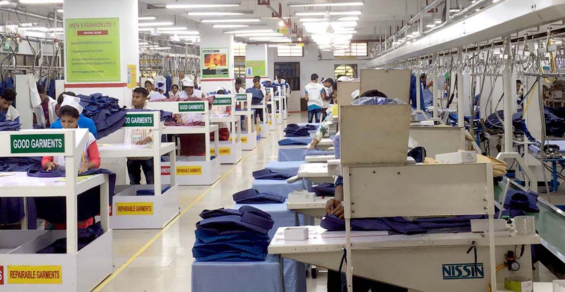 Factory floor at Men's Fashion Ltd. (Azim Group)